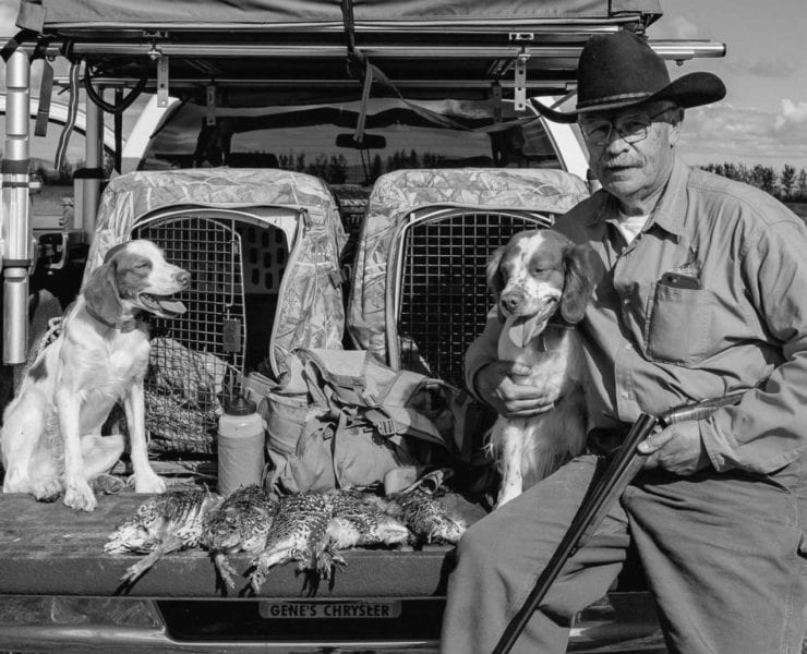 Jim McCann, Alaskan upland hunter with brittany pointing dogs