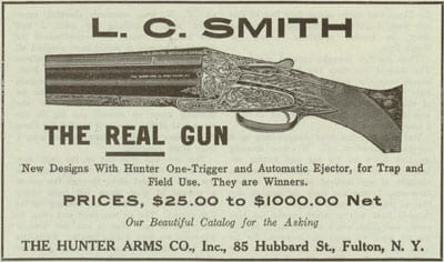 L.C. Smith Ad with Prices
