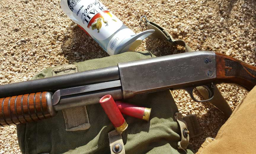 The authors Ithaca Model 37 during a quail hunt.