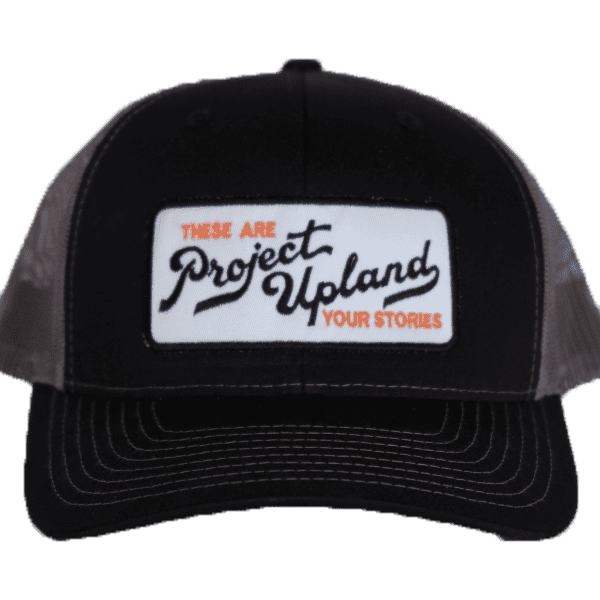 Black and gray Project Upland Hat with White Patch